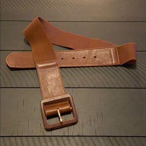 Banana Republic Brown Leather Stretch Belt